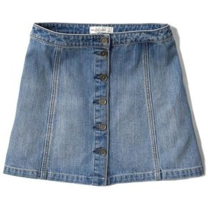 Abercrombie and Fitch button up denim skirt